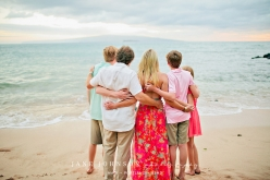White Rock Beach Makena Maui Family Portraits