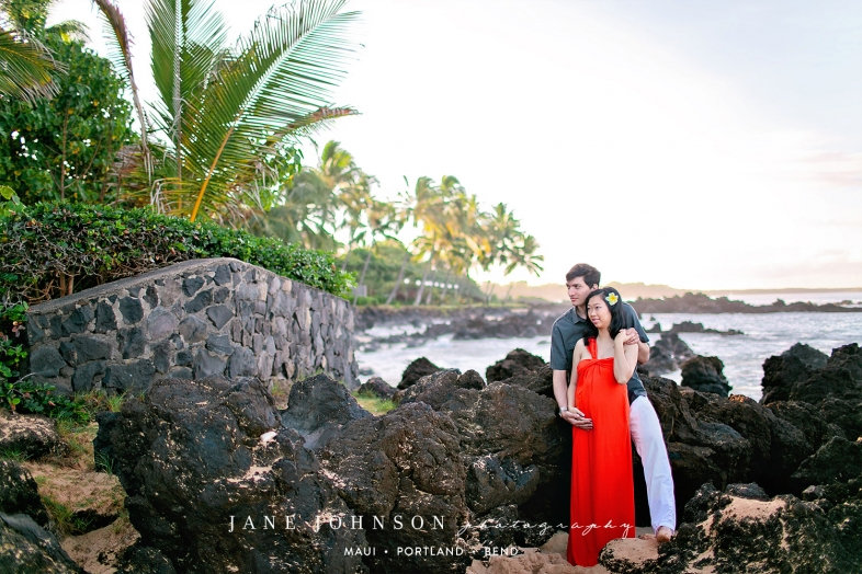 Grand Wailea Maui Hawaii Babymoon Maternity Portraits