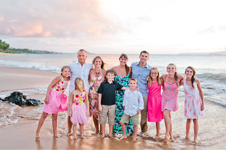 Sidewalks Beach Maui Hawaii Family Portrait Photography