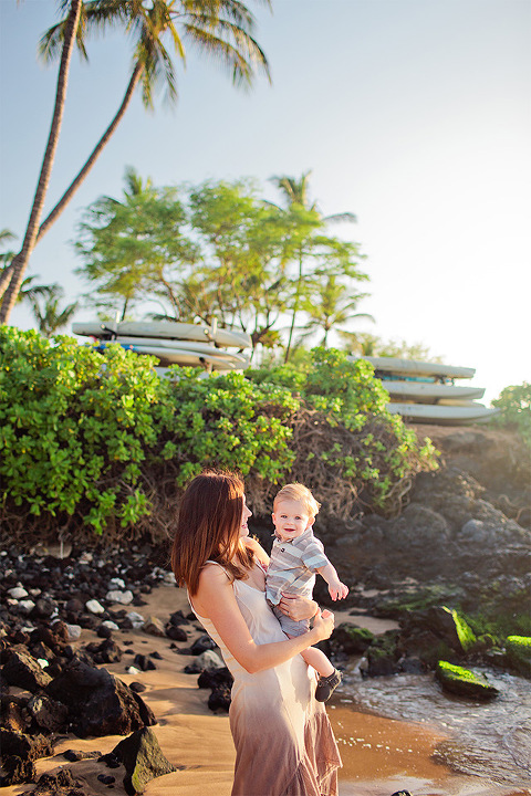 Andaz Beach Wailea Maui Hawaii Family Portrait Photography