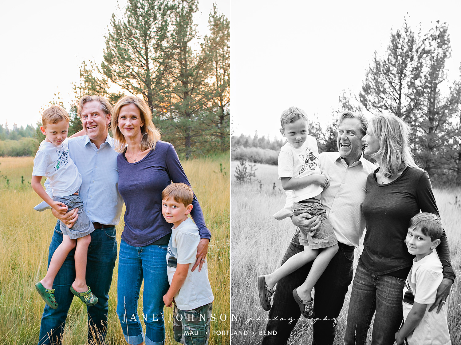 Frogs and Tigers in Sunriver - Bend, Oregon Family Portraits
