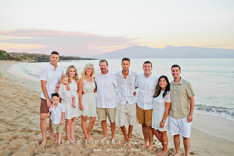 An Extended Family Portrait Session in Kapalua - Bend Oregon Family